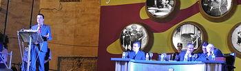 Francisco Martínez Arroyo durante la 62ª edición de las Fiestas de la Vendimia y el Vino en Valdepeñas
