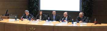 El consejero de Salud y Bienestar Social, Fernando Lamata, dutante la inauguración de las III Jornadas Oncológicas sobre Cáncer de Páncreas organizadas por la AECC en Albacete.