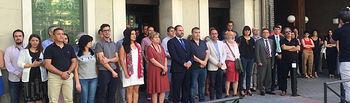 Minuto de silencio en homenaje a Miguel Ángel Blanco en Ferraz.