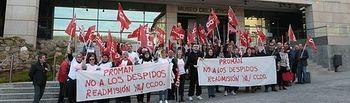 Protesta-trabajadores-Museo-Ejercito-CCOO