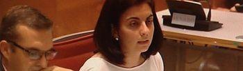 Belén Torres, durante su intervención en la Cámara Alta.