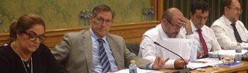 El concejal Carlos Navarro en el pleno del miércoles
