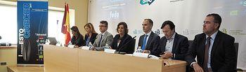 La consejera de Economía, Empresas y Empleo, Patricia Franco, inaugura las I jornadas 'Esto es crecer 2017' del Banco Sabadell en Albacete.