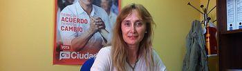 María Jesús Amores, portavoz de Cs en el Ayuntamiento de Cuenca.
