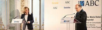 Cospedal interviene en el Foro ABC Deloitte 1. Foto: JCCM.