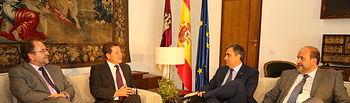 Reunión del presidente García-Page con el alcalde de Cuenca, Ángel Mariscal. Foto: JCCM.