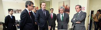 El portavoz del Gobierno regional, Leandro Esteban, inaugura el Centro Asistencial de Solimat en Albacete.