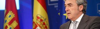 Leandro Esteban en la rueda de prensa del Consejo Gobierno 15-05-14 (4). Foto: JCCM.