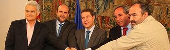 Declaración institucional para un Acuerdo Marco para la Recuperación Social y Económica de CLM. Foto: JCCM.