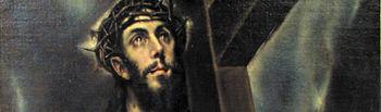 """""""Cristo abrazado a la Cruz"""" de """"El Greco"""", situado en el Museo Parroquial de El Bonillo."""