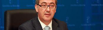 Marcial Marín en rueda de prensa. Foto: JCCM.
