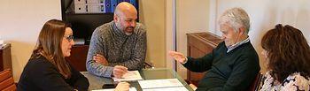 Reunión que han mantenido José García Molina y José Luis Gil.