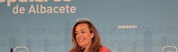 Carmen Navarro, en la sede provincial del PP.