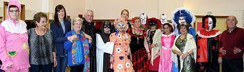 Fiesta de disfraces de carnaval del club de jubilados de Santa Teresa.
