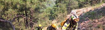 El INFOCAM mantiene el plan de acción para consolidar el incendio de Yeste. Foto: JCCM.