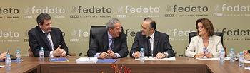 El delegado de Gobierno en Castilla-La Mancha, José Julián Gregorio, se reúne con representantes de la Federación Empresarial Toledana