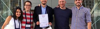 Asier Mañas y otros miembros el grupo GENUD Toledo en el 21º Congreso Anual del Colegio Europeo de Ciencias del Deporte, celebrado en Viena.