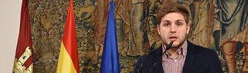 El portavoz del Gobierno regional, Nacho Hernando, informa sobre diversos asuntos de interés regional. FOTOS:José Ramón Márquez. JCCM.