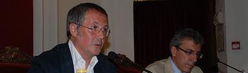 Fernando R. Lafuente y Antonio González, delegado de ABC en Toledo.
