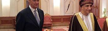 El ministro de Defensa. con el vice primer ministro de Omán (Foto: Ministerio de Defensa de España)