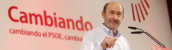 Rubalcaba en el Congreso Extraordinario del PSOE.