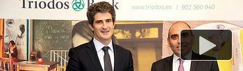 """Mikel García-Prieto, director general de """"Triodos Bank"""", junto a Martín Guiñazú, subdirector general comercial de """"Triodos Bank""""."""