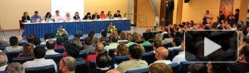 Los candidatos de los distintos partidos políticos durante el debate público celebrado el miércoles 21 de mayo.