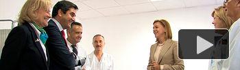 Cospedal visita el Centro de Salud Zona 5 de Albacete, recientemente ampliado