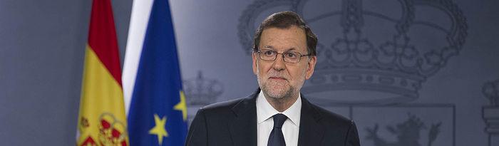 El presidente del Gobierno en funciones, Mariano Rajoy, comparece en La Moncloa, tras ser recibido por S. M. el Rey en el Palacio de la Zarzuela.
