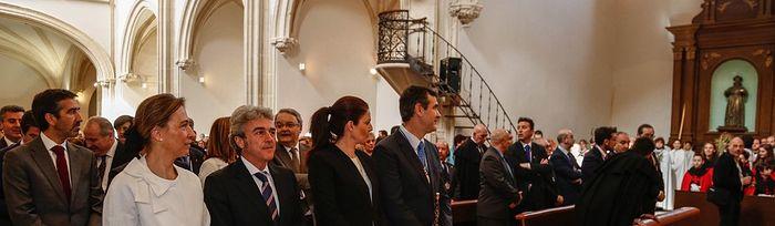Leandro Esteban asiste a los actos de Domingo de Ramos que se celebran en Guadalajara 1. Foto: JCCM.