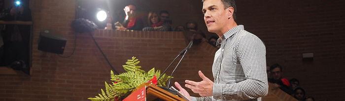 Acto de Pedro Sánchez como candidato a la secretaría general del PSOE en Albacete.