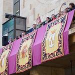 Misa manchega organizada por la FAVA para despedir a la Virgen de Los Llanos de su capilla en el Recinto Ferial de Albacete y su traslado al Ayuntamiento. Foto: Manuel Lozano García / La Cerca