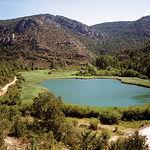 Laguna de Taravilla, en el pueblo del mismo nombre.