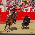 Leandro Hernández - Su primer toro - Corrida 10-09-17