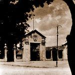 La Puerta de Hierro del edificio ferial a finales de los años 40 del siglo XX.