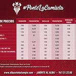 Precios Abonos Albacete Balompié
