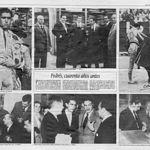 Hoja del periódico La Verdad donde se puede ver a Pedrés trabajando en los antiguos Almacenes Lorenzo