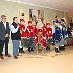 Los Reyes Magos de Oriente durante su visita a ASPRONA.