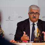 Eloy Molina, presidente de FECAM, durante la presentación del IX Campeonato Nacional de Fútbol 7 Inclusivo y los IV Premios FECAM de Deporte Inclusivo. Foto: Manuel Lozano García / La Cerca