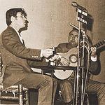 Manuel Gerena en su primer recital de cante que tuvo lugar en Alcalá la Real (Jaén), el 7 de noviembre de 1968.