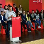 El secretario general del Partido Socialista, Pedro Sánchez, ha participado en un encuentro con militantes y simpatizantes en Albacete