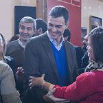 Pedro Sánchez durante una Asamblea Abierta a la ciudadanía en el Centro Cultural San Clemente de Toledo.