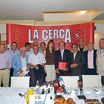 El Jurado de los Samueles tras su fallo, el 19 de septiembre pasado, para designar a los mejores de la Feria 2008.