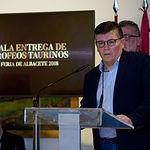 Diego Pérez, director provincial de Cultura, en la Gala de Entrega de Trofeos Taurinos de la Feria 2018