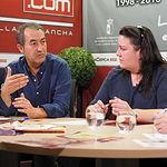 José Antonio Aparicio y Verónica García, activistas de la Red Feminista de Albacete
