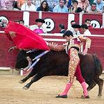 José Garrido en su segundo toro con la muleta.