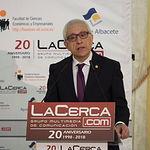 Manuel Lozano, director del Grupo Multimedia de Comunicación La Cerca, durante el VIII Foro 'Castilla-La Mancha, de Cerca'.