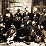 Vendedores ambulantes de navajas de Albacete de mediados del siglo XX.