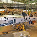 Revisión de un Mirage F1, procedente del Ala 14 de la Base Aérea de Los Llanos, en la Maestranza Aérea de Albacete.