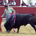 Enrique Ponce en su primer toro.